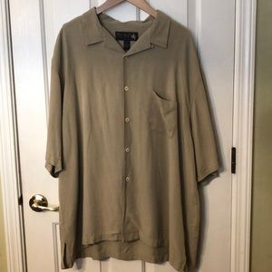 Nat Nast Short Sleeve Tan Shirt 2XL